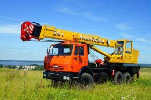 Автокран Галичанин грузоподъёмностью 25 тонн